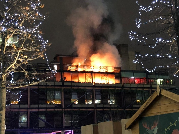 Fire-ravaged Ivy reopens after just 24 hours with the promise of a party